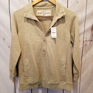 J. Crew | Rumpled French Terry Henley L